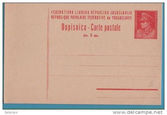 A-160  JUGOSLAVIA JUGOSLAVIJA JUGOSLAWIEN  POSTAL CARD TITO - Postal Stationery