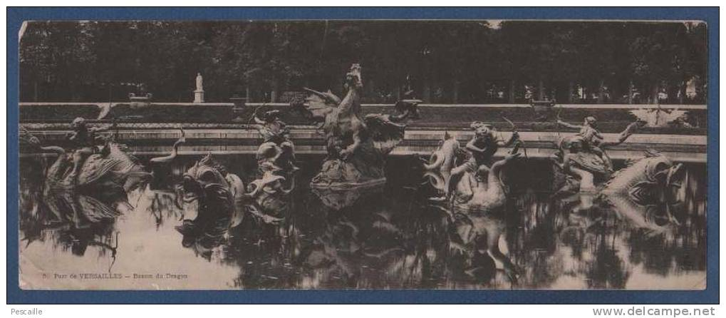 78 YVELINES - LOT DE 9 CARTES PANORAMIQUES DE VERSAILLES - PALAIS / PETIT TRIANON / GRAND TRIANON / PARC ... - Versailles (Château)