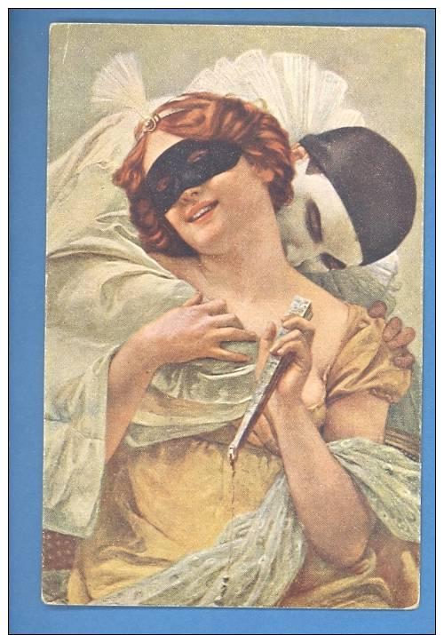 SEIGNAC WOMAN And CLOWN VINTAGE POSTCARD (B2477) - Altre Illustrazioni