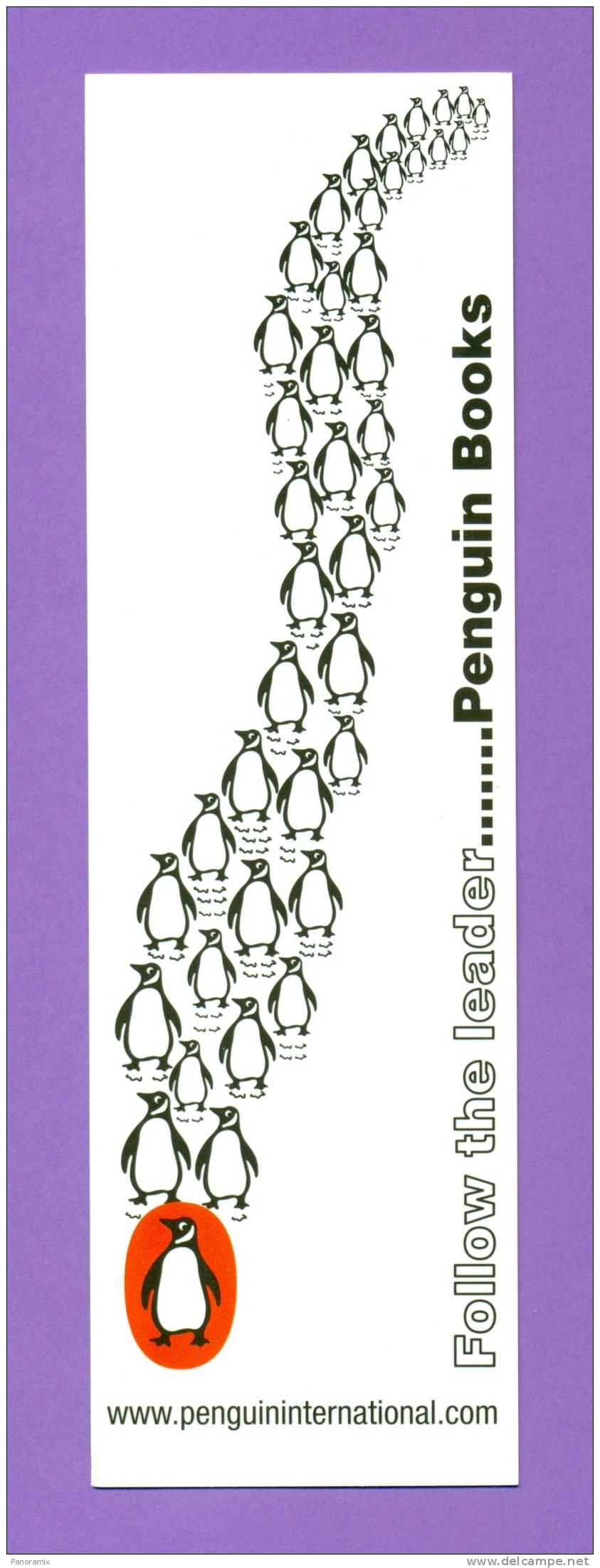 """Penguin  Books   """"  Une  Longue File  De  Pingouins  """"   5 X 17 Cm - Marque-Pages"""