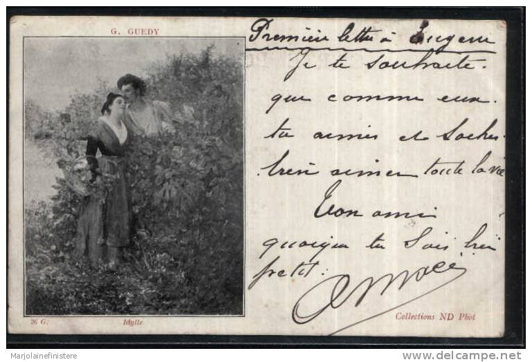 Précurseur - G. GUEDY. - Idylle. Collections ND Phot. N° 26 G - 1901 - Couples