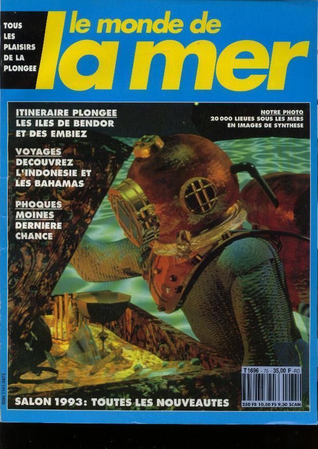Le  Monde De La Mer N° 75 -11/1993 Indonésie Bahamas Phoque Moine Tamaya Bandol - Sport