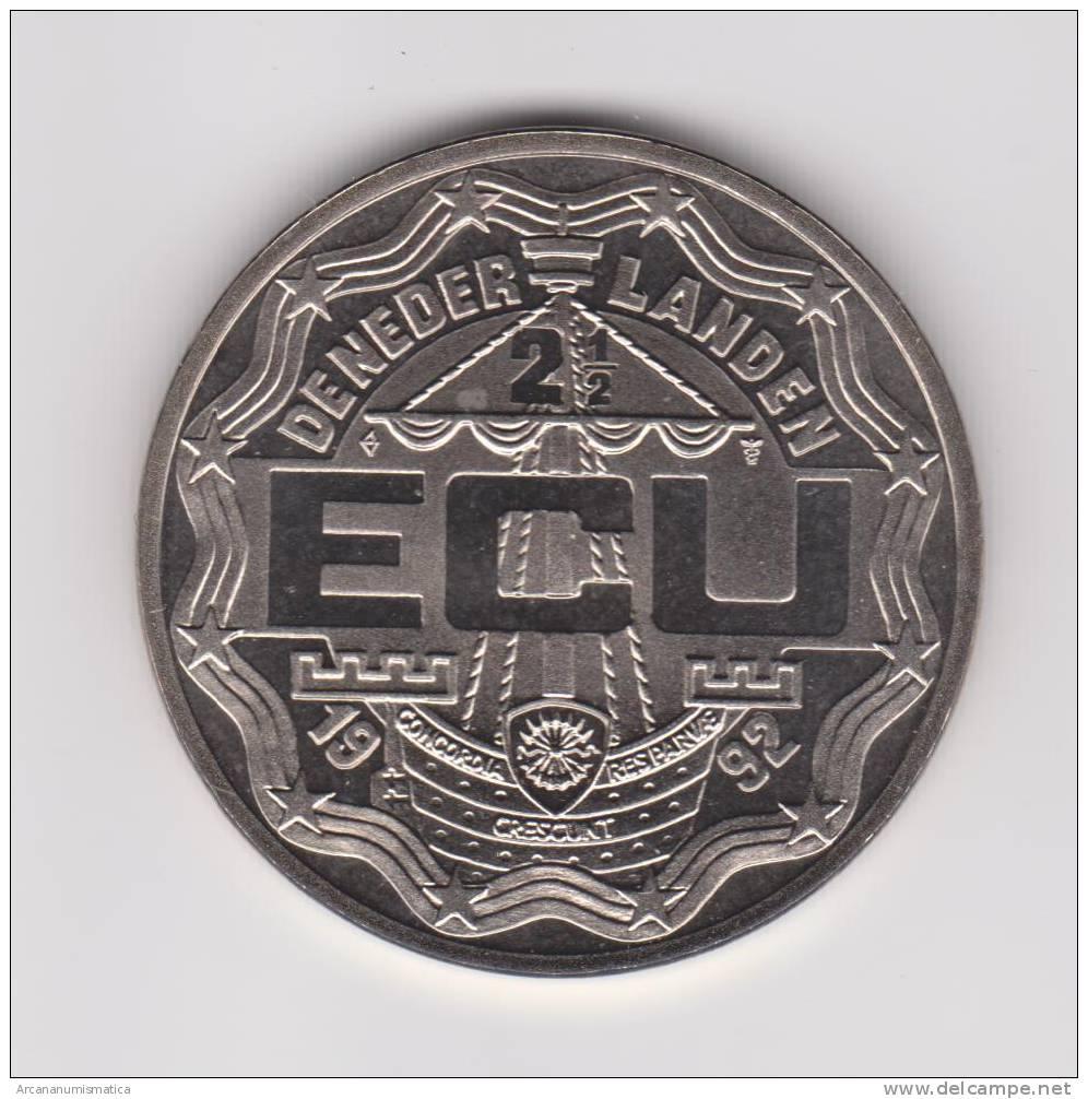 "HOLANDA  MEDALLA  SC/UNC  ""ECU-1992""  DL-9643 - Paises Bajos"
