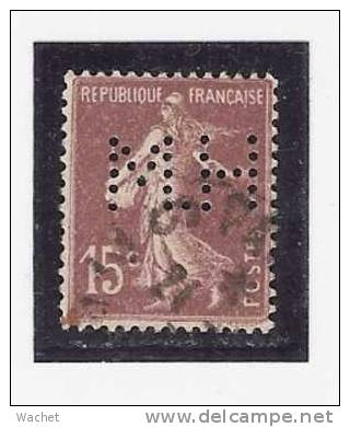 Perforé/perfin/lochung France No 189 M.H - France