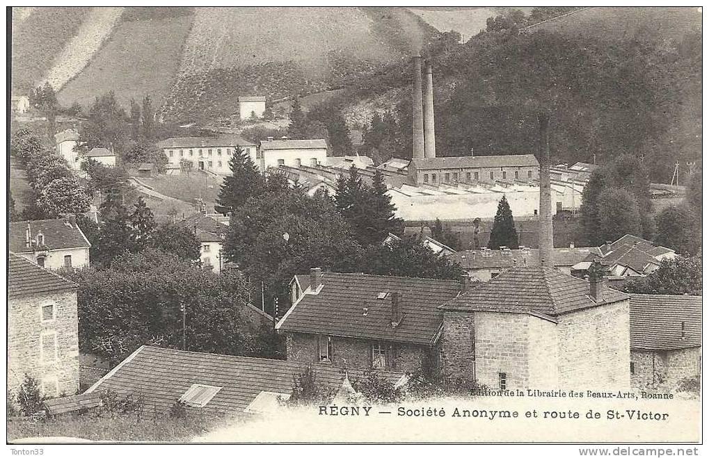 REGNY  (42)  L´usine  (société Anonyme Et La Route De Saint Victor  978 - Non Classés