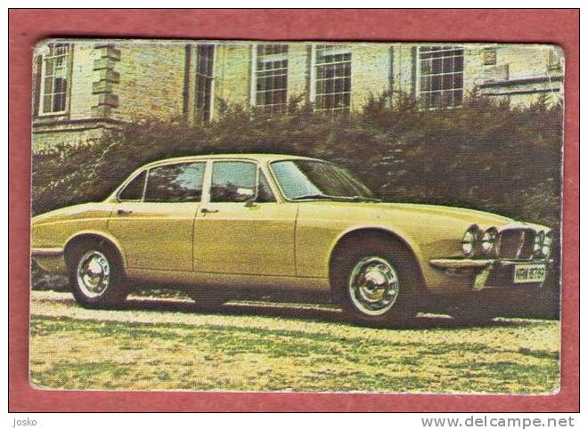 JAGUAR  - England ( Croatia Old Vintage Card ) Car Automobile Auto Cars Automobiles Autos Oldtimer Oldtimers - Unclassified