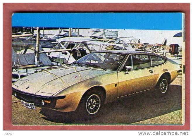 MASERATI   - Italy  ( Croatian Vintage Card ) Car Automobile Auto Cars Automobiles Autos Oldtimer Oldtimers - Stickers