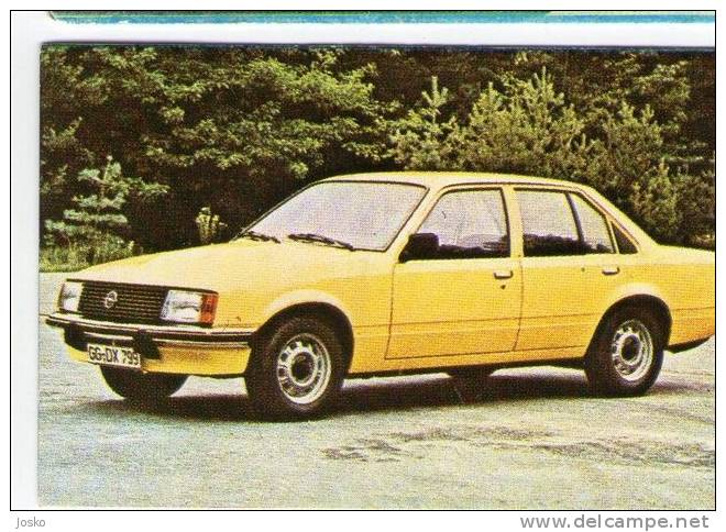 OPEL  - Germany  ( Croatia Old Vintage Card ) Car Automobile Auto Cars Automobiles Autos Oldtimer Oldtimers - Other Collections