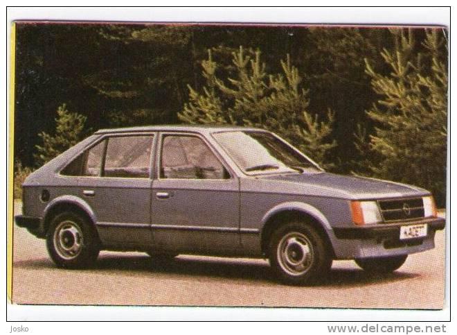 OPEL KADET - Germany  (Croatian Vintage Card) Car Automobile Auto Cars Automobiles Autos Oldtimer Oldtimers - Stickers