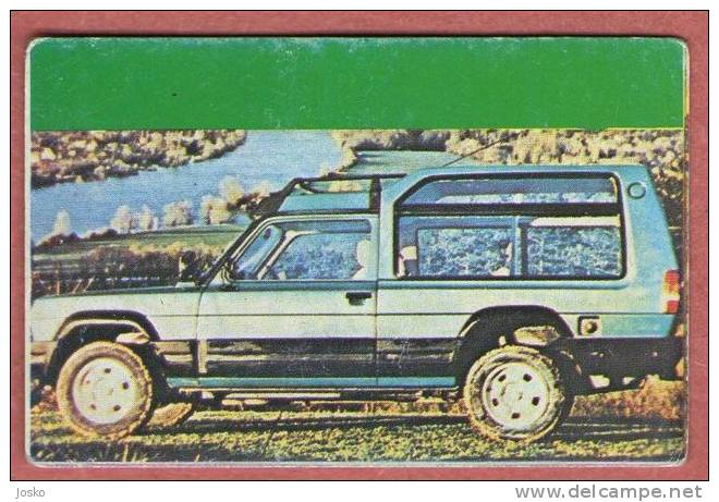SIMCA - France ( Croatia Old Vintage Card ) Car Automobile Auto Cars Automobiles Autos Oldtimer Oldtimers - Other Collections
