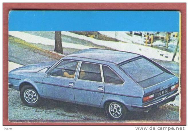 RENAULT - France ( Croatia Old Vintage Card ) Car Automobile Auto Cars Automobiles Autos Oldtimer Oldtimers - Unclassified