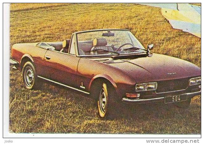 PEUGEOT 504 CABRIO - France ( Croatia Old Vintage Card ) Car Automobile Auto Cars Automobiles Autos Oldtimer Oldtimers - Other Collections