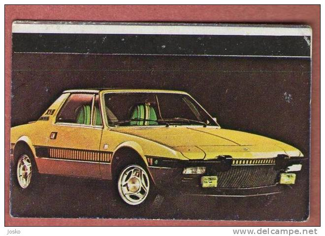 FIAT X 19  - Italy  ( Croatia Old Vintage Card ) Italia Car Automobile Auto Cars Automobiles Autos Oldtimer Oldtimers - Other Collections