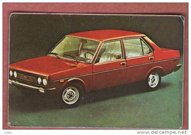 FIAT 131  - Italy  ( Croatian Vintage Card ) Italia Car Automobile Auto Cars Automobiles Autos Oldtimer Oldtimers - Stickers