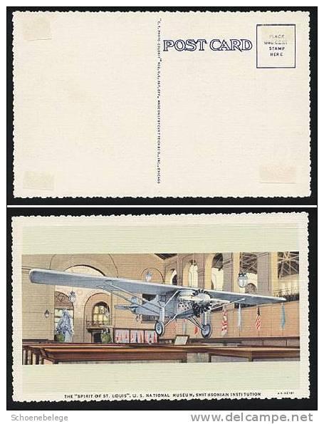 A187) USA PPC Ansichtskarte SPIRIT OF ST.LOUIS Ungebraucht Unused - 1919-1938