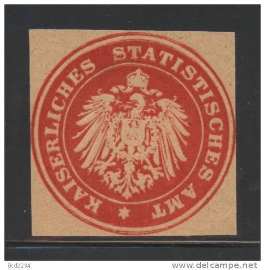 DEUTSCHSLAND PREUSSEN GERMANY PRUSSIA Siegelmarke Kaiserliches Statistisches Amt - Seals Of Generality