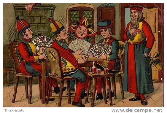 CPA EN RELIEF GAUFREE JEU DE CARTES  ** EMBOSSED CARD PLAYING CARDS - Cartes à Jouer