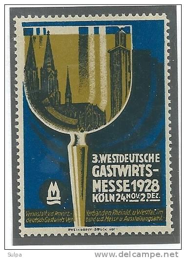 Gastwirtschaftsmesse, Köln 1928 - Fantasie Vignetten