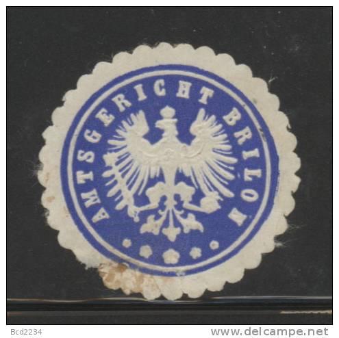 DEUTSCHSLAND PREUSSEN GERMANY PRUSSIA Siegelmarke Amtsgericht Brillon - Gebührenstempel, Impoststempel