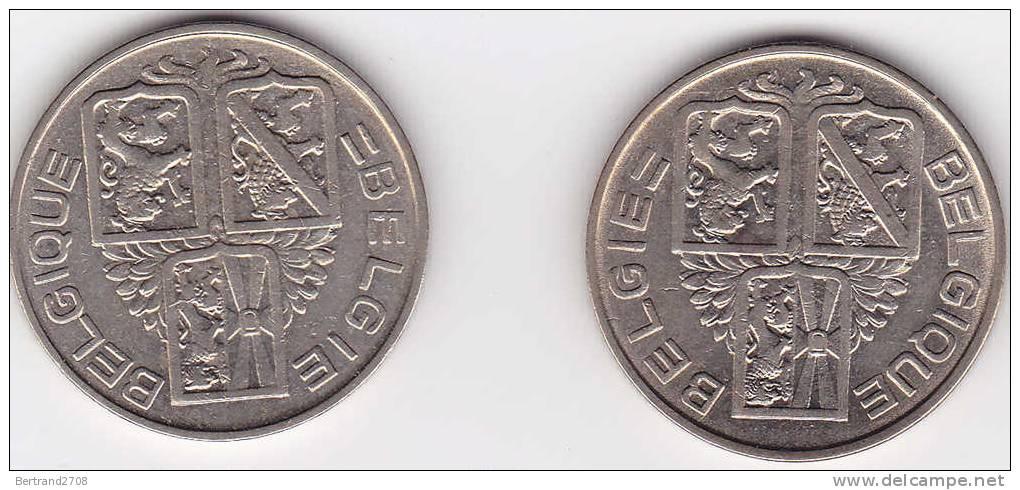 2 Pièces De Monnaie De BELGIQUE - 1934-1945: Leopold III