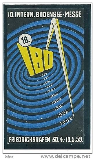 10. Intern. Bodensee-Messe, Friedrichshafen 1959 - Fantasie Vignetten