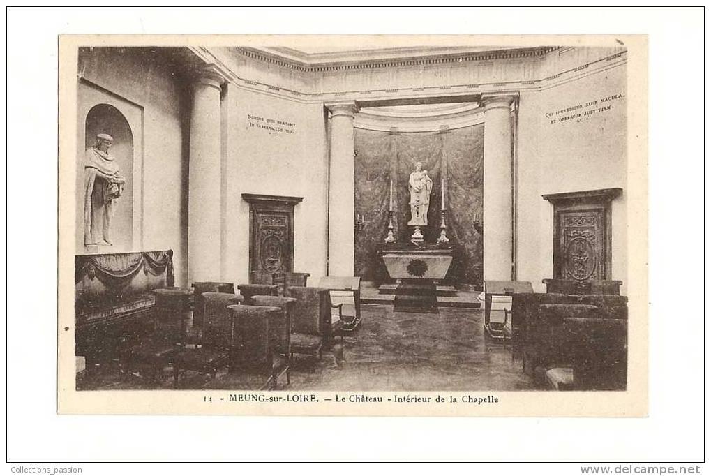 Cp, 45, Meung-sur-Loire, Le Château,  Intérieur De La Chapelle - France