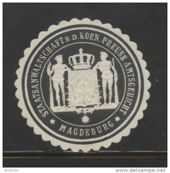 DEUTSCHSLAND PREUSSEN GERMANY PRUSSIA Siegelmarke Staatsanwaltschaft Bei Dem K. Preussischen Landgericht - Magdeburg - Gebührenstempel, Impoststempel