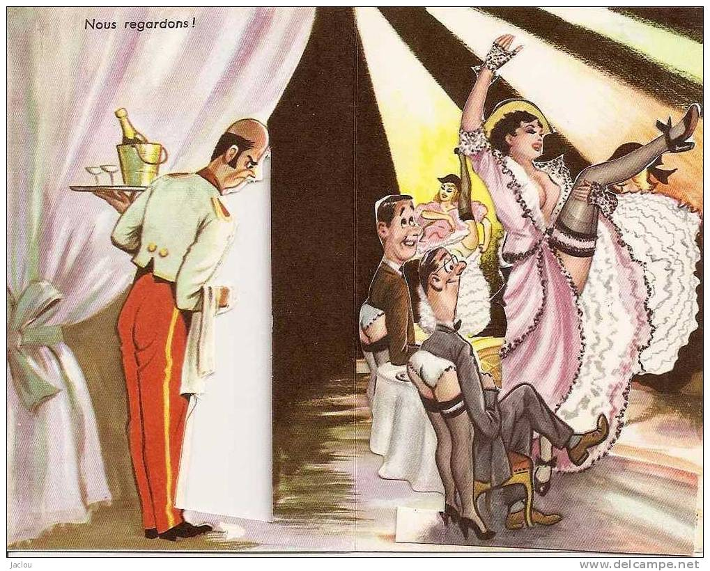 """CARTE SYSTEME"""" CHAMPAGNE, FRENCH CANCAN """"  REF 19500 - Mechanical"""