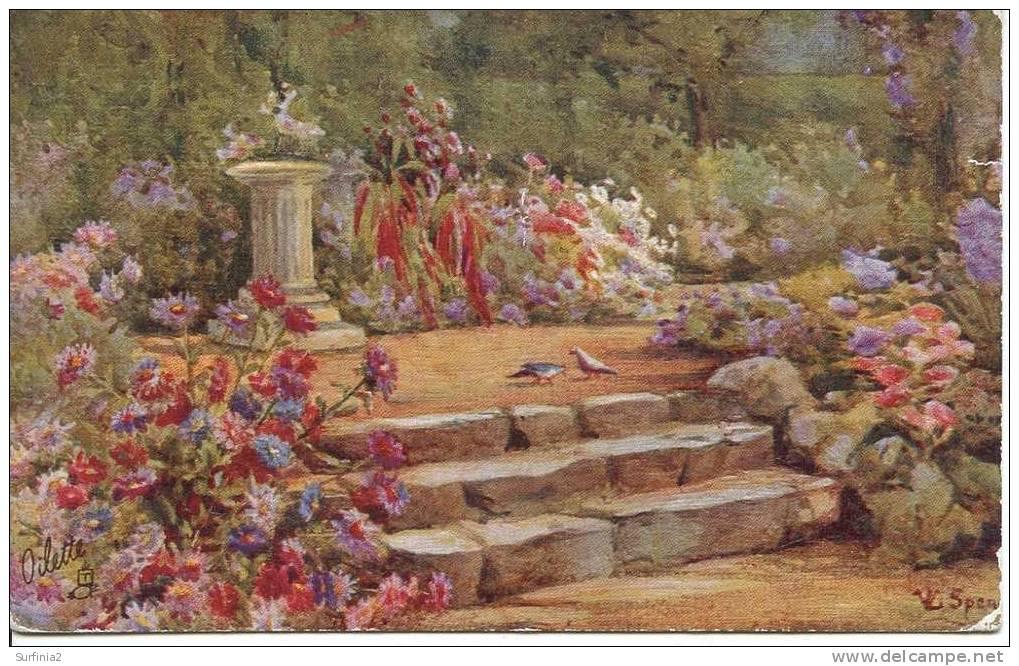 TUCKS OILETTE - SERIES 3574 - ALL IN A GARDEN FAIR - Flowers, Plants & Trees