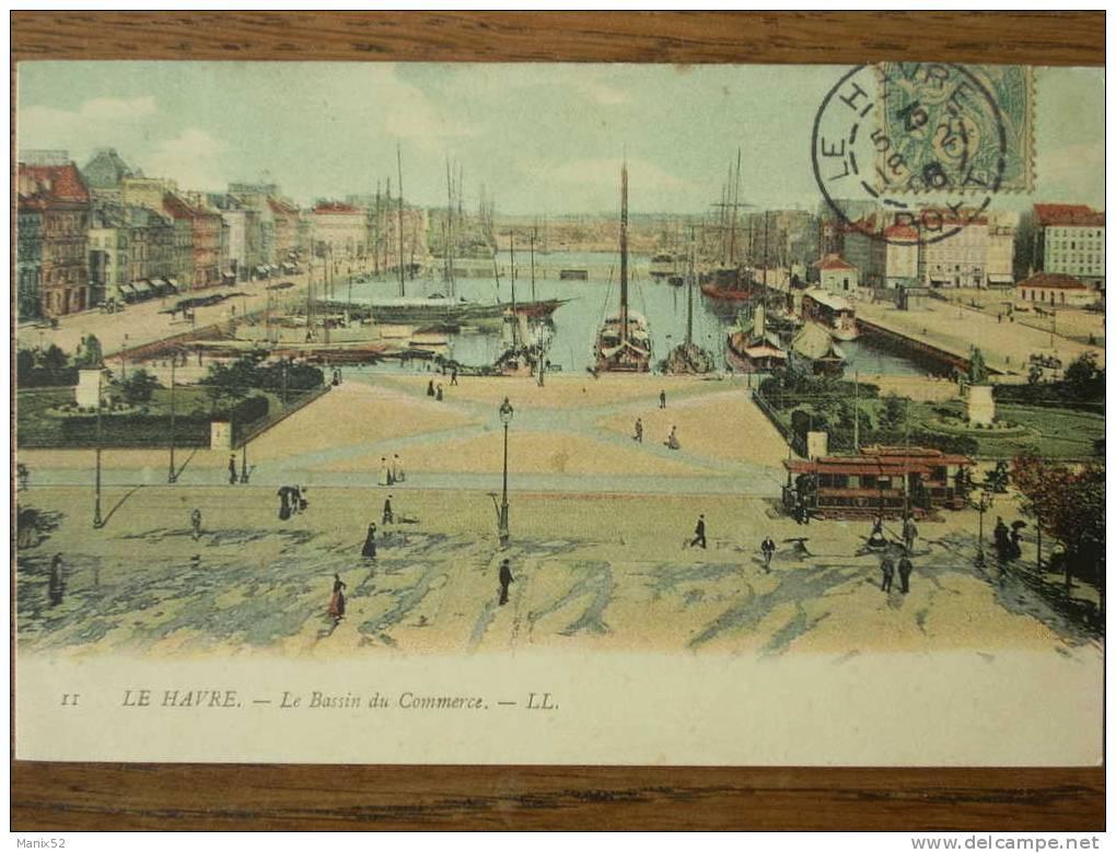 76 - LE HAVRE - Le Bassin Du Commerce. (Nombreux Bâteaux Et Tramway) - Port