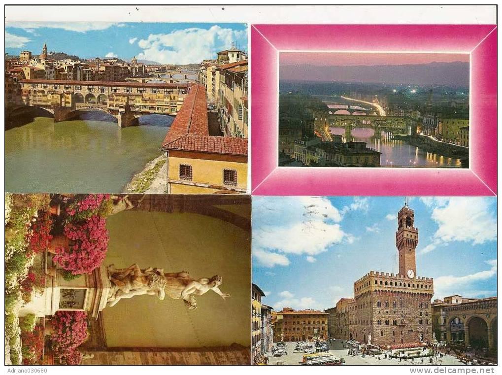 LOTTO DI 4 CARTOLINE DI FIRENZE PREZZO BASSO - Firenze
