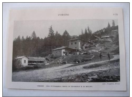 Coredo   Segherie    Coupure De Presse Avec Photo 1927 - Documents Historiques
