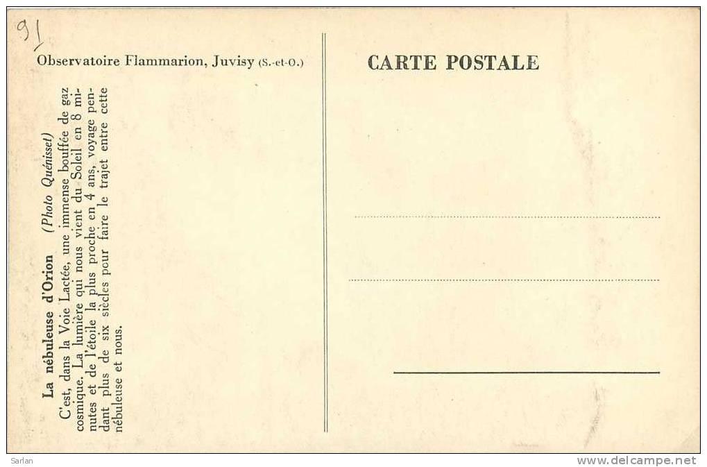 91 , JUVISY , Observatoire Flammarion , Nébuleuse D'orion , *7132 - Juvisy-sur-Orge