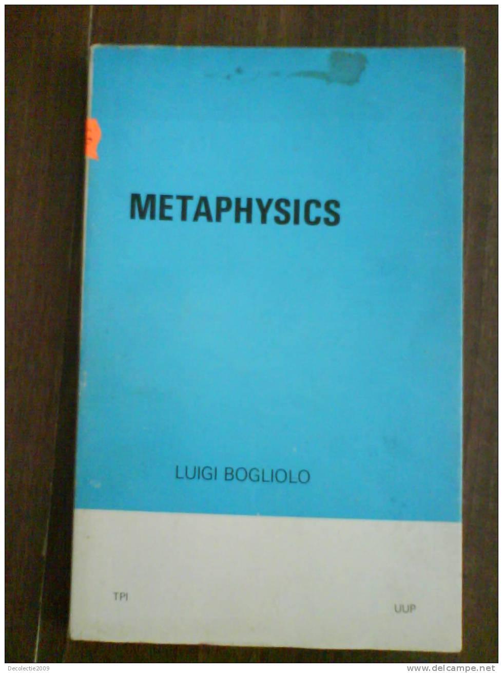 2426 Luigi Bogliolo Metaphysics - Philosophie