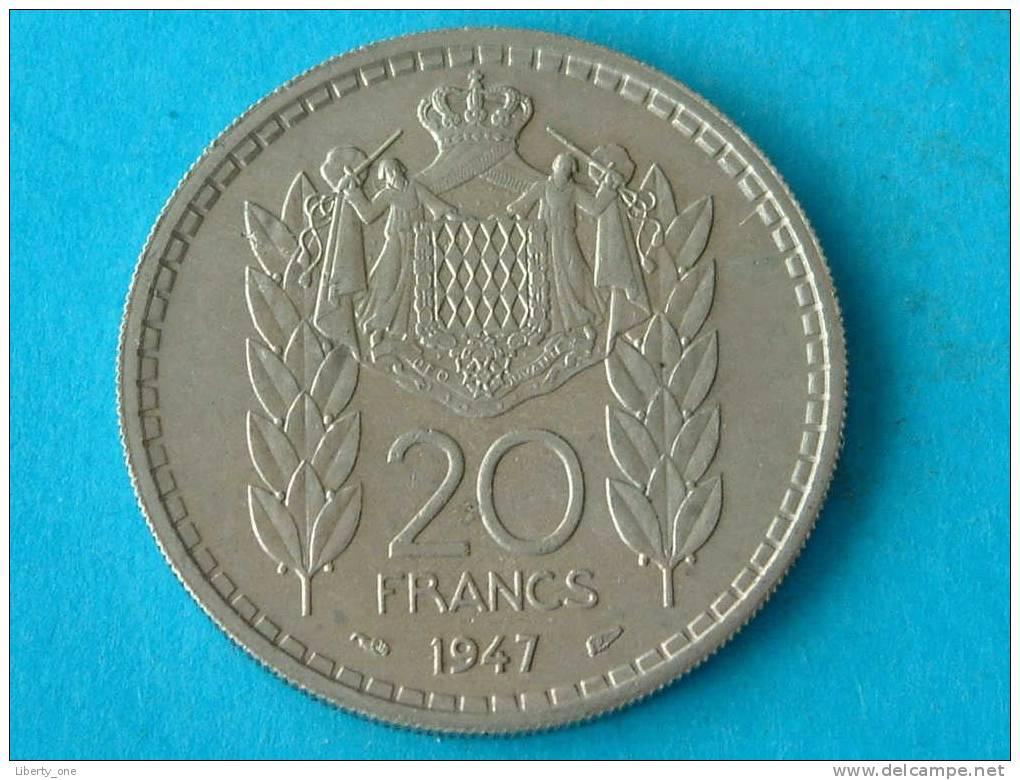 1947 - 20 FRANCS / KM 124 ( For Grade, Please See Photo ) !! - Monaco