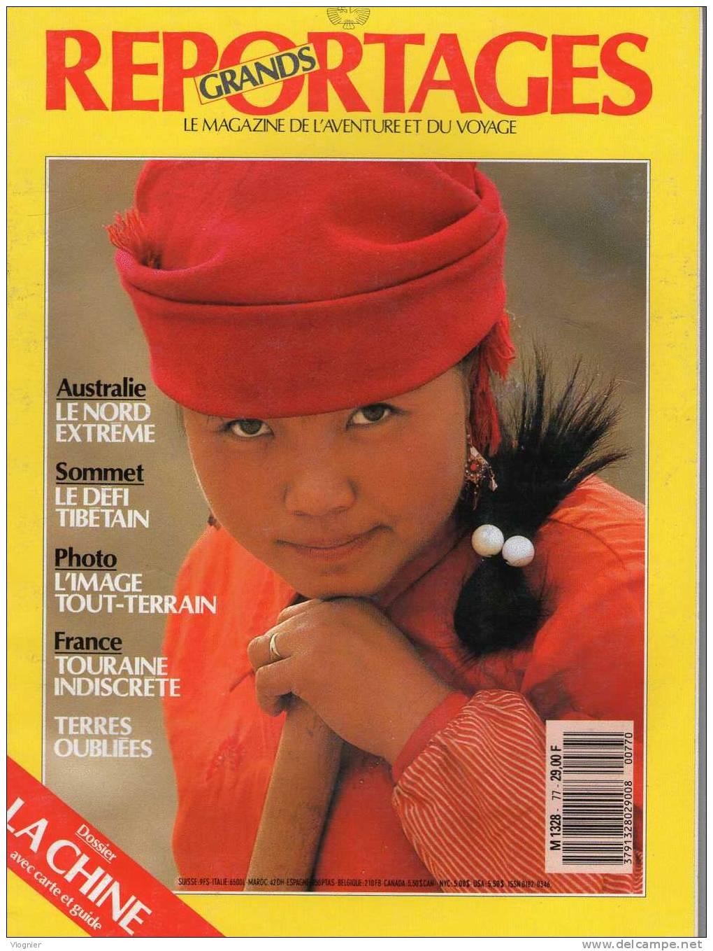 GRANDS REPORTAGES      Numéro 77  Février 1988    Chine, Australie, Tibet, Touraine, Terres Oubliées - Géographie