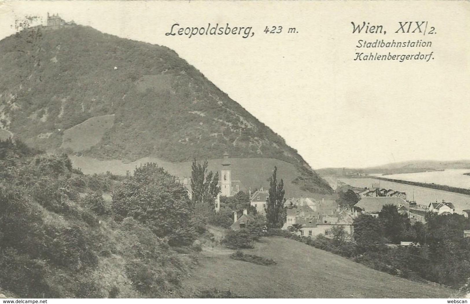 AK Wien XIX / 2 Leopoldsberg Stadtbahn 1913 K&k  #103 - Wien