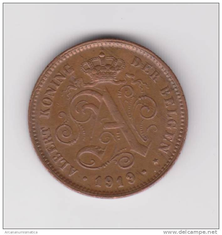 BELGICA  2  CENTIMOS  COBRE    1.919  KM# 65   MBC/VF    DL-9704 - 1909-1934: Albert I