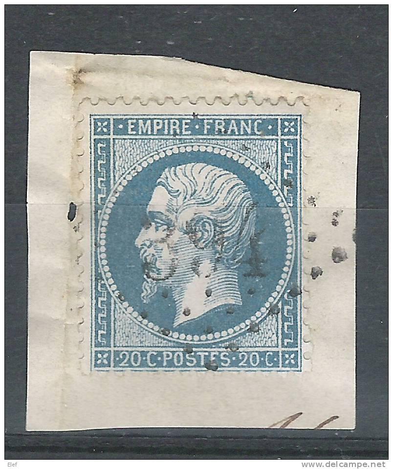 France, Empire Yvert  N° 22, Obl GC 394 De BEAUMONT Sur SARTHE,Sarthe , Sur Fragment ;frappe SUPERBE ! ; TB ! - 1862 Napoleon III