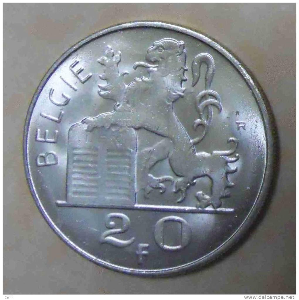20 Francs 1955 Flamand. Morin : N°550 - 1951-1993: Boudewijn I