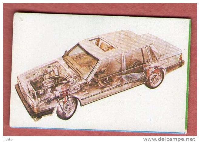 VOLVO 760 - 740  Sweden ( Croatia Old Vintage Card ) Car Automobile Auto Cars Automobiles Autos Oldtimer Oldtimers - Other Collections