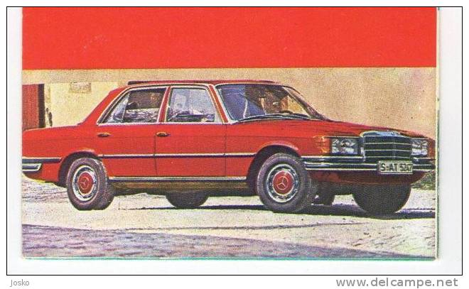 MERCEDES - Germany ( Croatia Old Vintage Card ) Car Automobile Auto Cars Automobiles Autos Oldtimer - Other Collections
