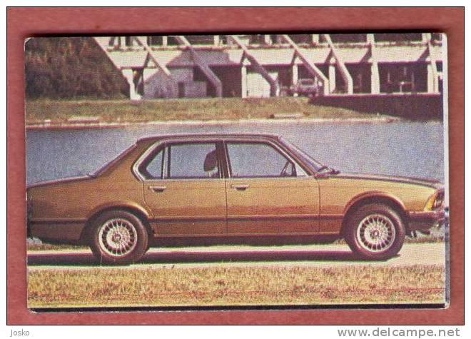 BMW 7 - Germany ( Croatia Old Vintage Card ) Car Automobile Auto Cars Automobiles Autos Oldtimer - Unclassified