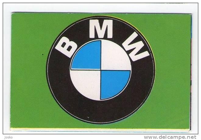 BMW - Germany ( Croatia Vintage Card ) Car Automobile Auto Cars Automobiles Autos Oldtimer Oldtimers - Unclassified