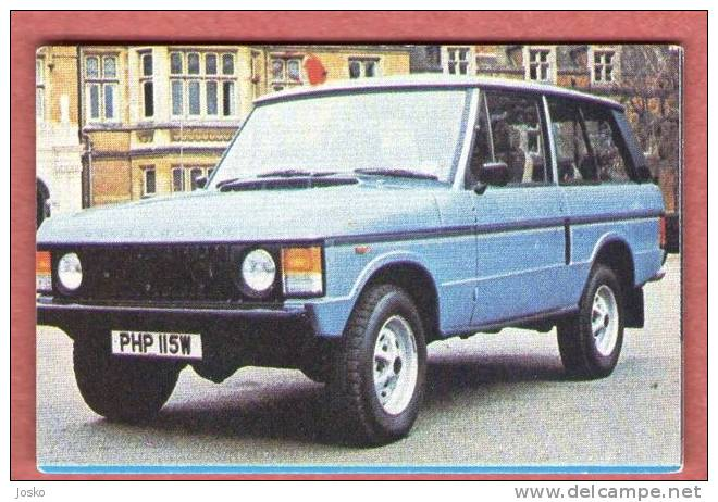 LAND ROVER - England  ( Croatia Old Vintage Card ) Car Automobile Auto Cars Automobiles Autos Oldtimer - Other Collections