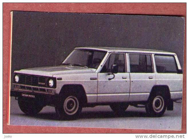 NISSAN PATROL - Japan  ( Croatia Old Vintage Card ) Car Automobile Auto Cars Automobiles Autos Oldtimer - Unclassified