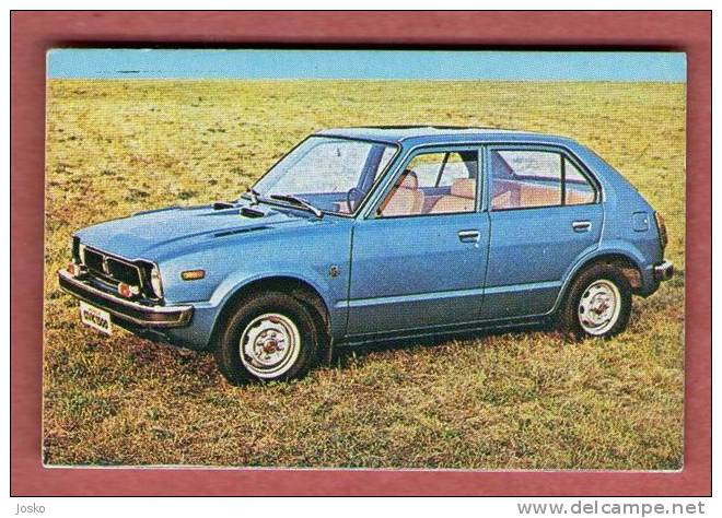 HONDA CIVIC  - Japan  ( Croatia Old Vintage Card ) Car Automobile Auto Cars Automobiles Autos Oldtimer - Unclassified