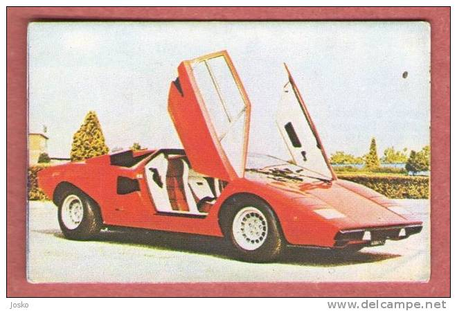 DIABLO LAMBORGHINI - Italy   ( Croatia Old Vintage Card ) Car Automobile Auto Cars Automobiles Autos Oldtimer - Other Collections