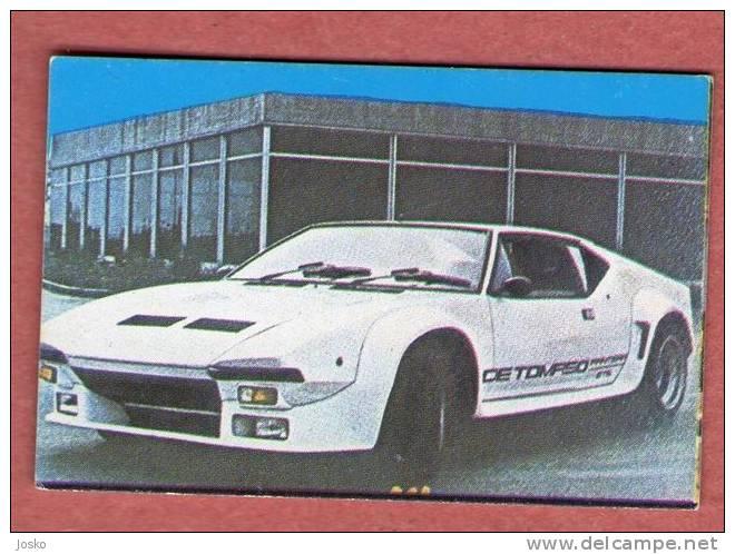 DE TOMASO PANTERA - Yugoslavian Old Card * Car Automobile Auto Cars Automobiles Autos Oldtimer Italy Italia - Stickers