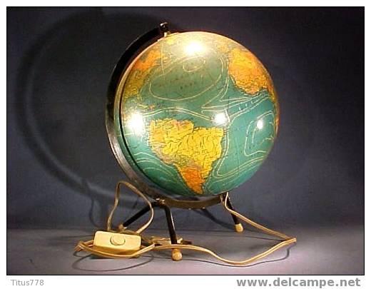 mappemonde globe terrestre lumineux g ographie terre lampe. Black Bedroom Furniture Sets. Home Design Ideas